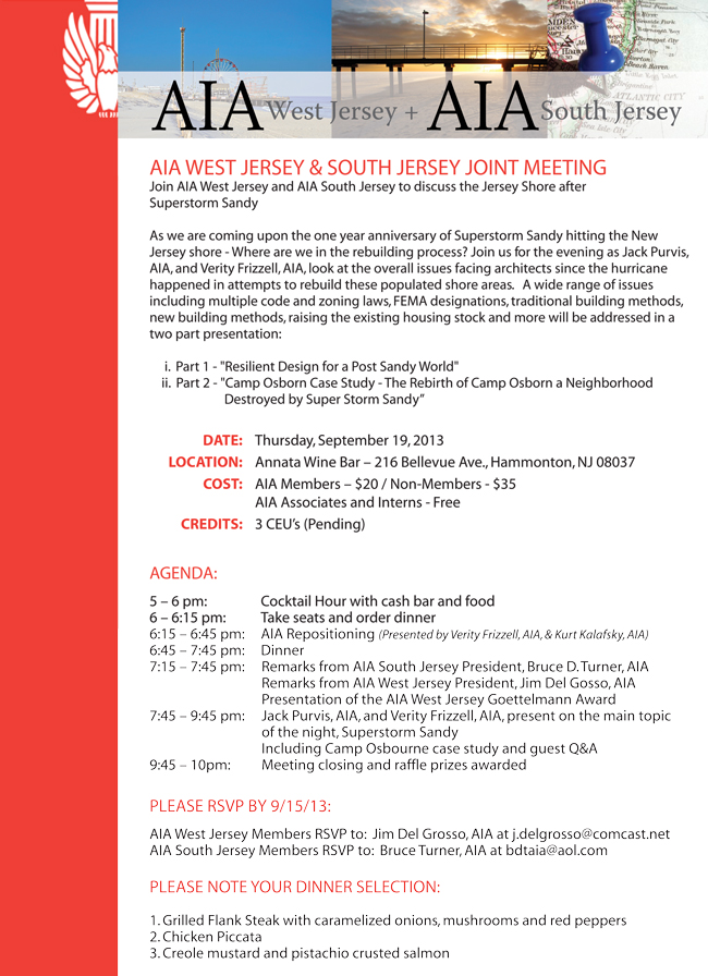 AIA-West Jersey September 19 General Meeting